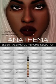 updates the sims 4 Sims 4 Cc Eyes, Sims 4 Mm Cc, Sims Four, Sims 4 Mods Clothes, Sims 4 Clothing, Sims 4 Piercings, Lip Piercings, Lip Piercing Stud, Rook Piercing
