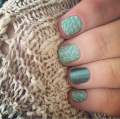 Lotus and Jaded from Jamberry Nails.