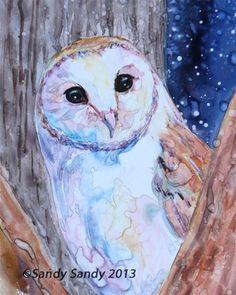 """Sleepless Beauty"" - Original Fine Art for Sale - SOLD - © Sandy Sandy - http://www.sandysandyart.com"