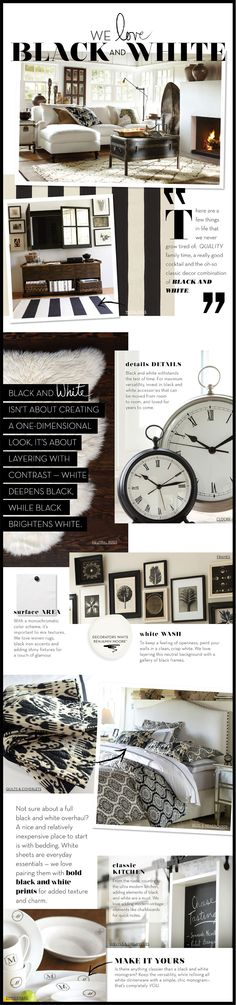 I love Black & White. #neutrals #decor.. Oh, someone made a post about me?! :P lol