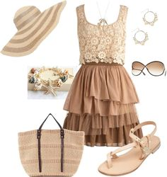 """Beach Peach - Bring on the Sun! Conest Set 2"" by ggulan on Polyvore"