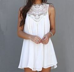 Sweet round neck sleeveless chiffon print dress #AD9404TY