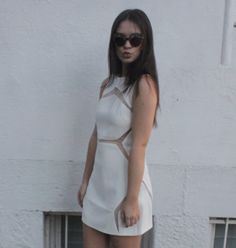 White Party!   Shop our 'Floating Panel Fitted Dress White' in stores and online now: www.shakuhachi.net