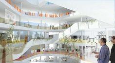 New University Hospital in Aarhus C.F. Møller. Photo: Rådgivergruppen DNU