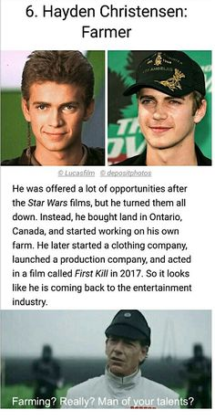 Hayden Christensen: Farmer {Farming? Really? Man of your talents?}