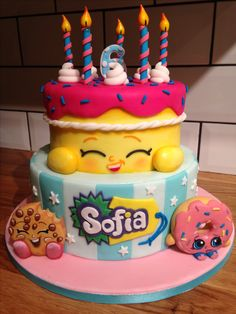 Shopkins cake, wishes shopkin, shopkins birthday