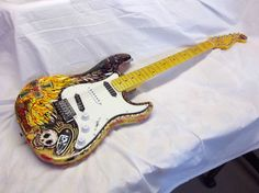 """Tranquilo"" Strat-styled electric guitar......got it up on eBay now....alot of fun to create!"