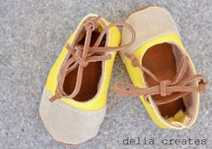 DIY Leather Baby Shoes Tutorial
