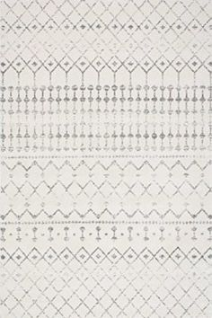 """Traditional Vintage Moroccan trellis Grey Area Rugs, 6 Feet 7 Inches by 9 Feet (6' 7"""" x 9')"""