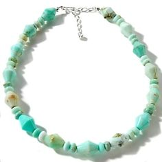 """Jay King Green Opal Beaded Sterling Silver 20-1/4"""" Necklace at HSN.com."""