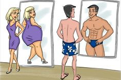 Creative Illustrations Show Differences Between Men and Women - Fashion Style Mag