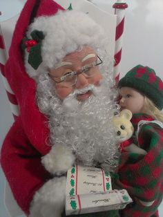 Holiday Creations Santa Claus Animated Musical Motionette 1995 Girl on Lap List