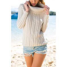 Yoins Sexy Poll Neck Backless Causal Jumper in Apricot ($35) ❤ liked on Polyvore featuring tops, sweaters, apricot, pink top, pink jumper, pink long sleeve top, jumper top and backless sweater