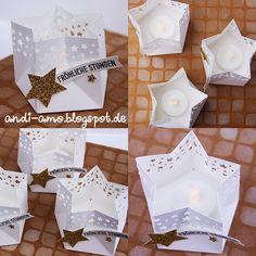andi-amo Teelichter in Sternform mit dem Stanz- und Falzbrett für Geschenktüten auf www.andi-amo.blogspot.de #stampin up #stanz- und falzbrett für Geschenktüten #Stanze Sternenkonfetti