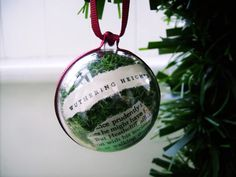 Black Friday Christmas Literary Bauble Ornament Wuthering Heights