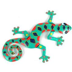 Recycled Oil Drum Painted Spotted Gecko Wall Art (Haiti) | Overstock.com Shopping - Top Rated Global Crafts Wall Hangings