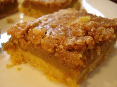 Pumpkin Crumb Cake....made with yellow cake mix, pumpkin puree, white &…