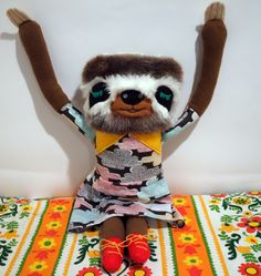 Sloth in a Cloud Dress - Jenny Smith Plush Artist TeddyBearRepublic 2014.