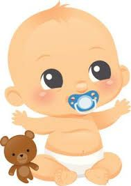 An adorable Baby boy with a teddy bear and a pinkie. Binky is on a separate layer and can be removed-the baby is smiling underneath. Teddy bear can also be removed and used separately. Cute Baby Boy, Baby Shawer, Cute Babies, Boy Cartoon Drawing, Baby Drawing, Baby Cartoon, Clipart Baby, Shower Bebe, Baby Boy Shower