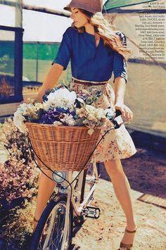 "girls-on-bicycles: ""Girls On Bicycle "" #bicyclegirl"