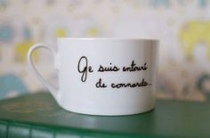 """I'm surrounded by assholes,"" French mug  Up Yours, Valentine's Day: A Gift Guide - Mighty Girl"