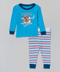 Another great find on #zulily! Blue 'Captain Adorable' Pajama Set - Infant & Toddler #zulilyfinds