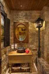 design by jamie linn constructed by veranda designer homes powder bath the lamp - Veranda Designer Homes