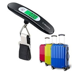 E-PRANCE Bilancia per valigia- Bilancino digitale pesapersone pesa bagaglio  valigi 0c202c1912a11