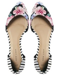 Image 3 of New Look Two Part Multi Print Flat Shoes