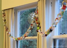 Inspire Me Heather holiday card garland (so clever and meaningful, I plan on trying this for Christmas w/ all of those cards I have saved)