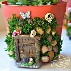 How to make An Enchanted Fairy House Planter With Kids Make this Adorable and enchanting DIY fairy house for your fairy garden. A perfect craft to make with the kids this summer!