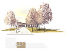 Roser Niclós del alzado al 3d. Architecture Concept Diagram, Architecture Graphics, Architecture Drawings, Landscape Architecture, Landscape Design, Architecture Design, Architecture Visualization, Architecture Portfolio, Master Thesis