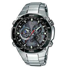 CASIO Edifice EQW-M1100DB-1AER – Reloj de caballero de cuarzo, correa de acero inoxidable, color plata   Your #1 Source for Watches and Accessories