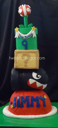 Mario cake. SWEEET! Remember the shark bullets?