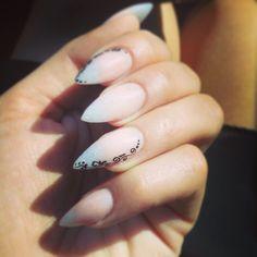 Ombré stiletto nails. Young nails