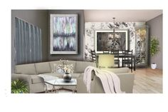 """""""And After All You're My Wonderwall"""" by taylornicolebrookebalser ❤ liked on Polyvore featuring interior, interiors, interior design, home, home decor, interior decorating, House of Hackney, Hooker Furniture, Silhouette and CB2"""