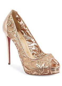 LOVIKA   7 New Christian Louboutin Wedding Shoes #pumps #sandals #lace