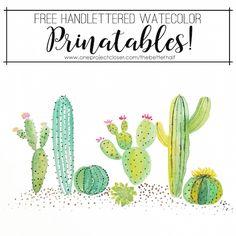 Free Watercolor Cactus Printable