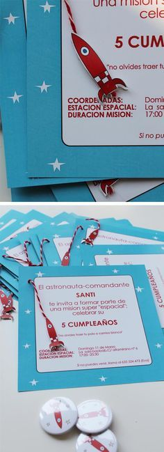 Divertidas invitaciones para una fiesta espacio / Fun invitations for your space party