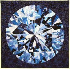 Diamonds Are Forever -- paper pieced quilt~yikes! Quilting Projects, Quilting Designs, Quilting Ideas, Geometric Quilt, Foundation Paper Piecing, Diamond Quilt, Fabric Art, Textile Art, Quilt Blocks