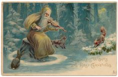 Tuck Christmas - Santa Claus Plays Violin for Forest Animals