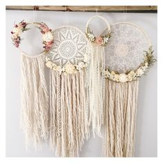 The Willow Dreamcatcher // doily dreamcatcher // von MeadowandMoss