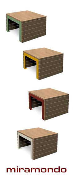 Comes in various colours. Simple untreated wooden slats and a variety of colours for the metal parts make WOODROW a special seating option for urban places. Which colour is your favourite? Wooden Slats, Street Furniture, Urban Design, Outdoor Furniture, Outdoor Decor, Exterior Design, Ottoman, Furniture Design, Stool