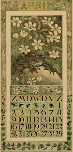 Theodoor van Hoytema, calendar 1911 April