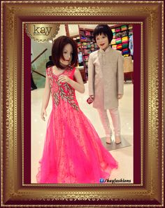 Redefine inspiration this season for him with this subtly shimmered sherwani and this dreamy pink netted gown for her with embroidered silver and copper! Did you visit our ethnic designer wear collections for kids?http://www.kayfashions.in/#!/ #fashion #indian #weddings #bridal #lehenga #ghagra #anarkali #salwar #designer #ethnic #boutique #chennai #shopping #triplicane #dress #clothes #traditional #saree #sari #silksaree