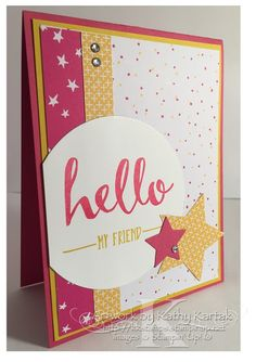 "Hello (No, It's Not Adele) is made with Stampin' Up's ""Hello"" stamp set."