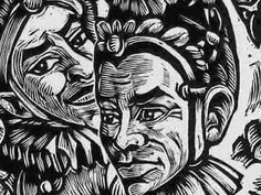 woodcut Xilogravura Fernando Fujiwara