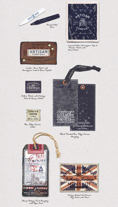 Assorted Hangtags & Labels by Happy Lucky Fun Studio on Behance