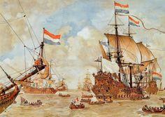 #Krijgsraad voor den Vierdaagschen #Zeeslag, 1666 | #Schoolplaat #Isings