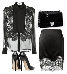 """""""Untitled #1257"""" by cheechchonghigh ❤ liked on Polyvore featuring Givenchy, Jimmy Choo and Christian Dior"""